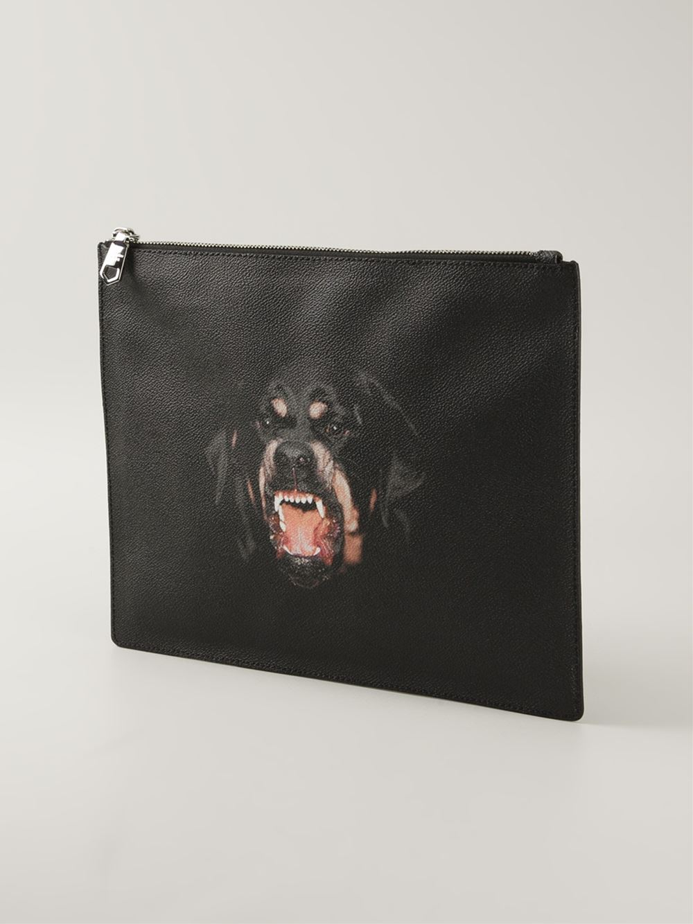 73291f321f9a Lyst - Givenchy Rottweiler Print Clutch in Black for Men