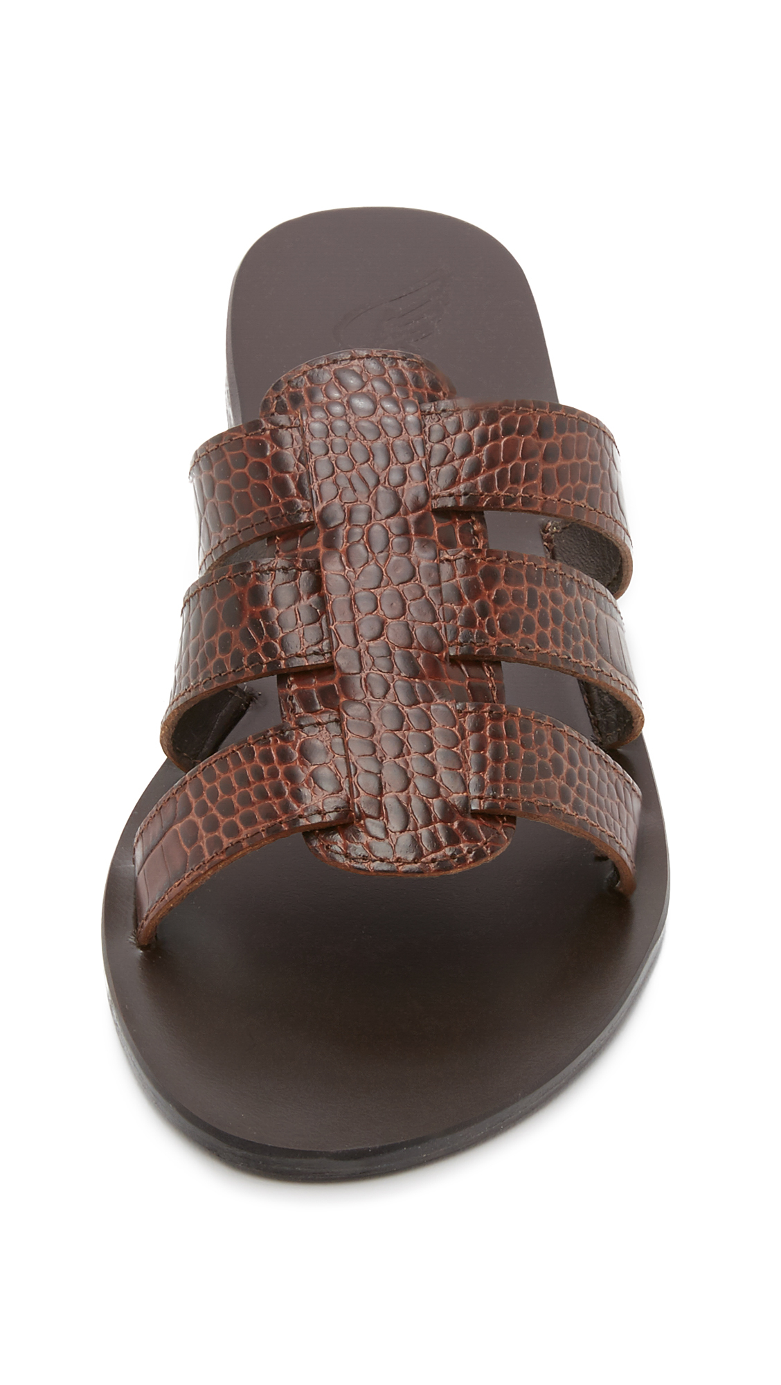 Lyst Ancient Greek Sandals Kavvadia Slides In Brown
