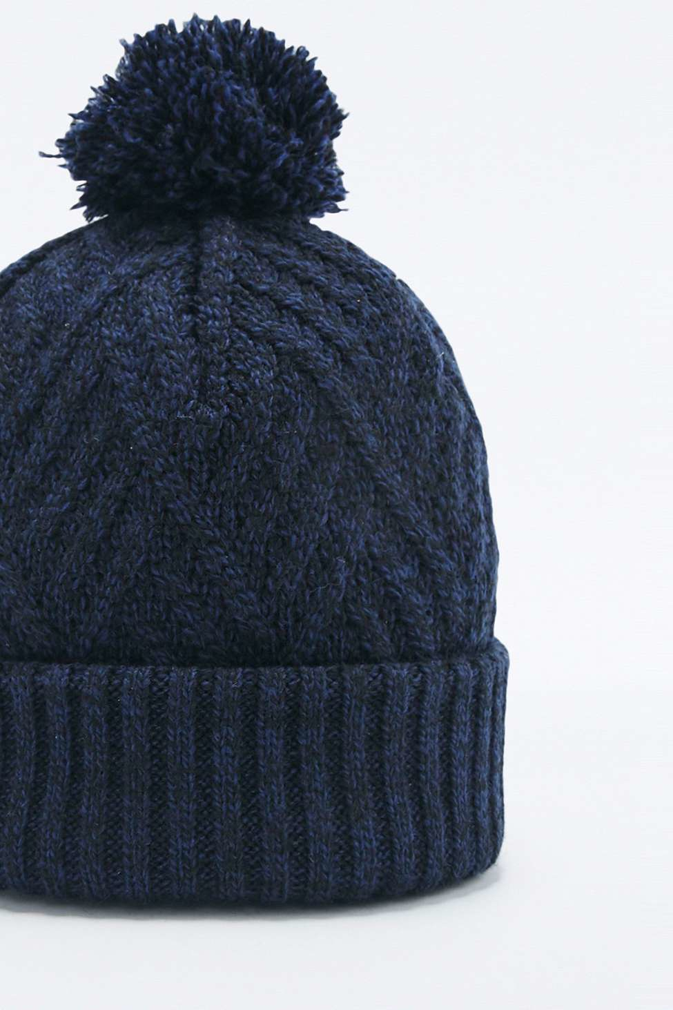 Urban Outfitters Cable Knit Navy Bobble Hat in Blue for Men - Lyst 68e8c50d5d6