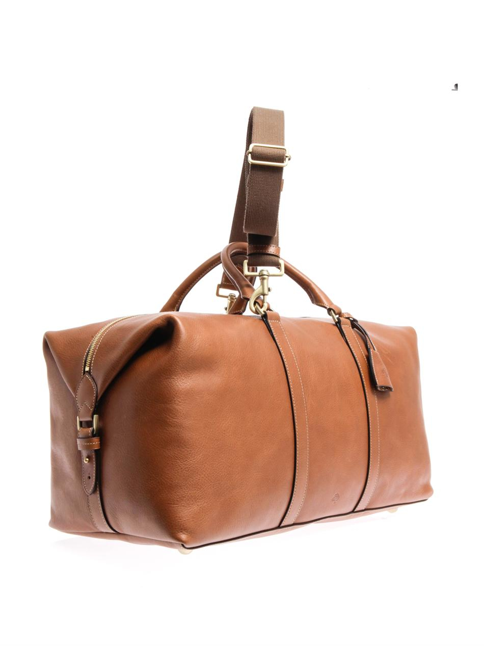 ed2a7a6cc2b3 Lyst - Mulberry Leather Clipper Weekend Bag in Brown for Men