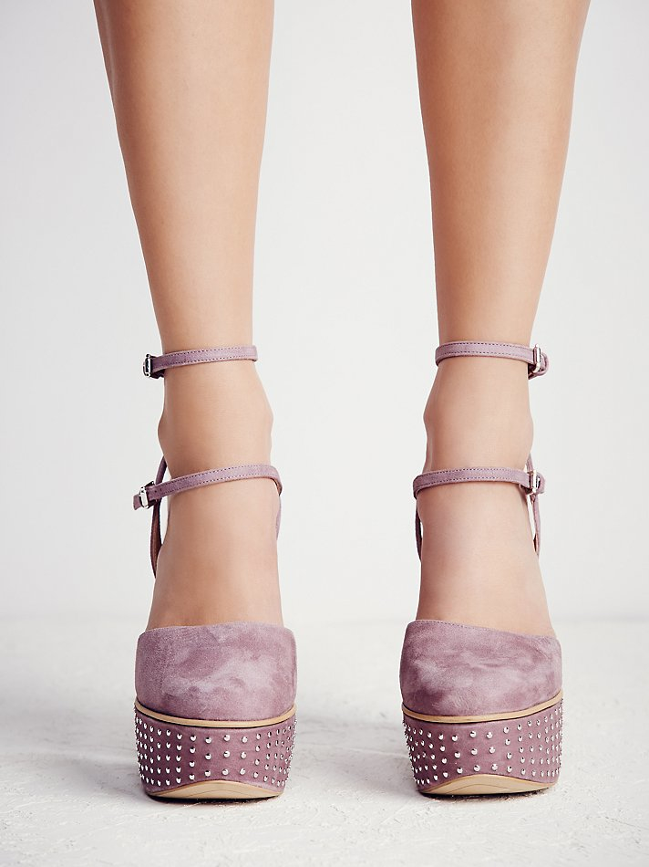 7d6efccd88 Free People Fp Collection Womens Star Crossed Platform in Purple - Lyst