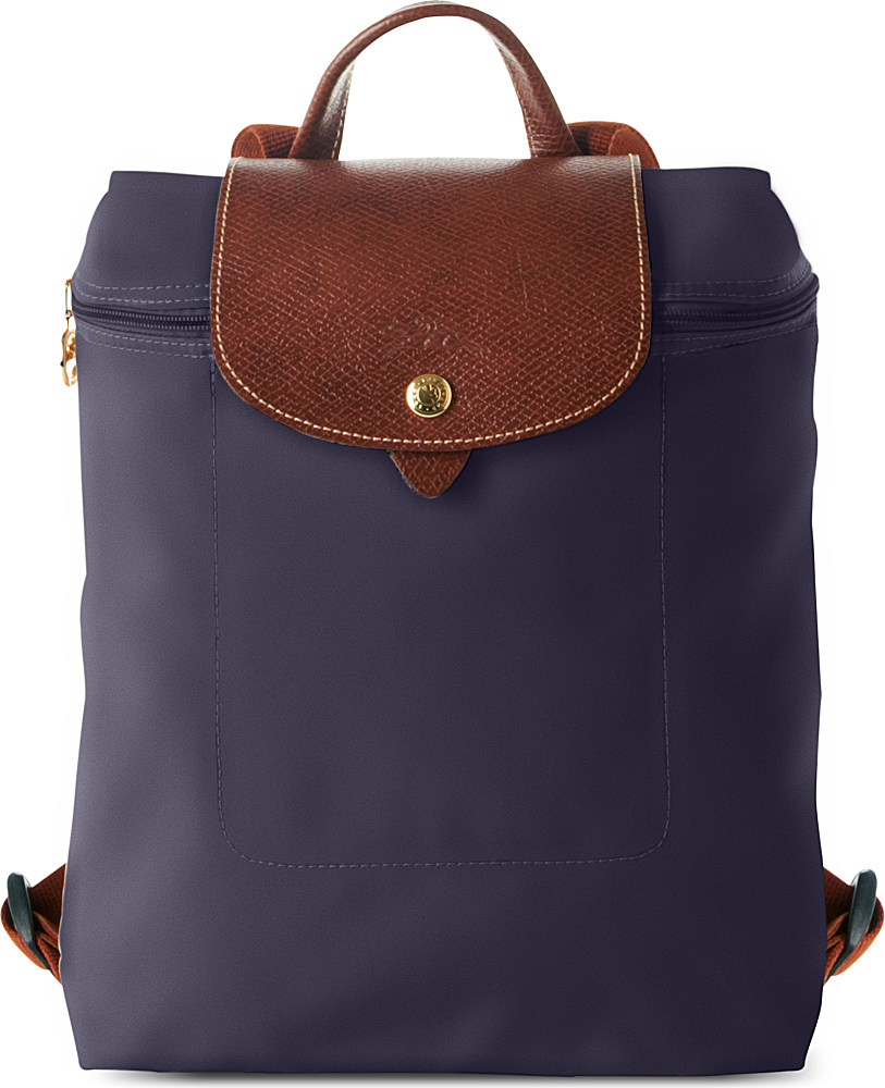 longchamp blue le pliage backpack lyst. Black Bedroom Furniture Sets. Home Design Ideas