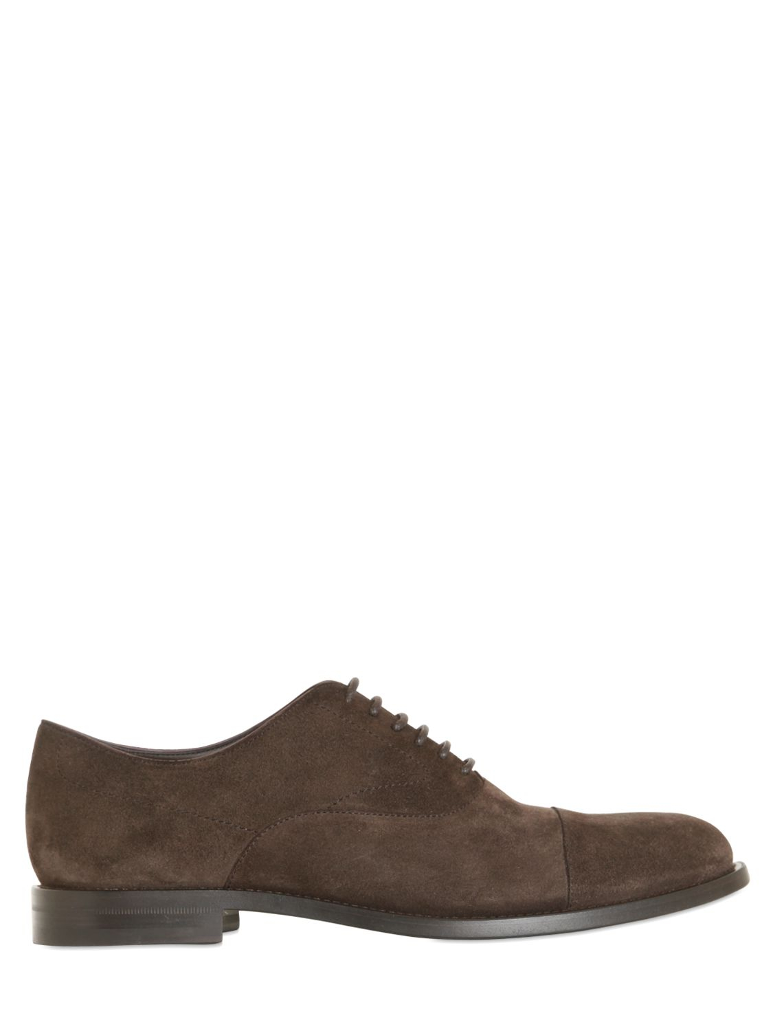 tod s suede oxford lace up shoes in brown for lyst