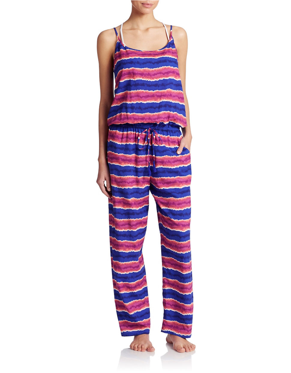 tommy bahama multi striped long jumpsuit multicolor product 0 486169225 normal