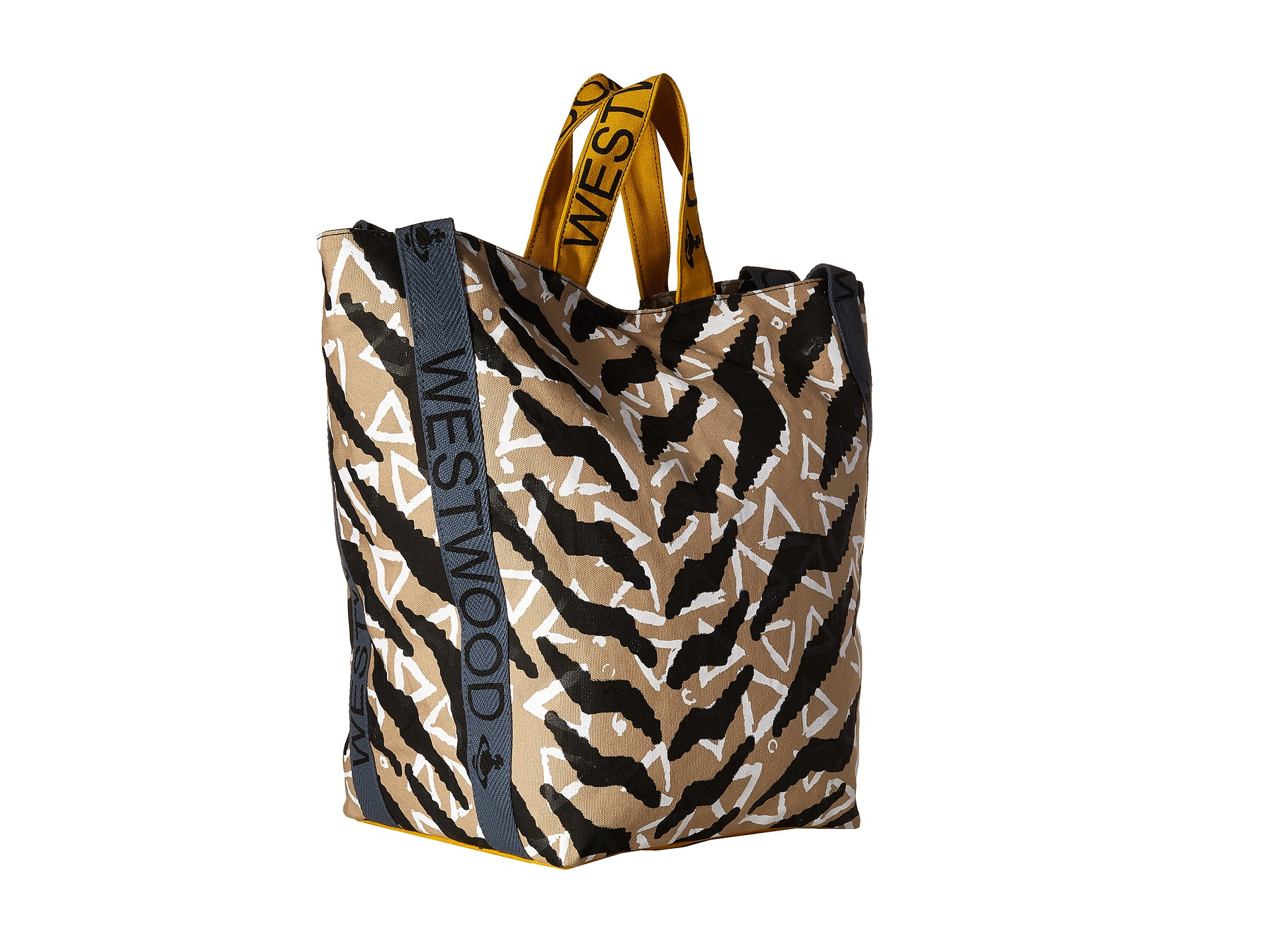 6a9dffa82d7 Vivienne Westwood Africa Tiger Triangle Runner Tote Bag in Gray - Lyst