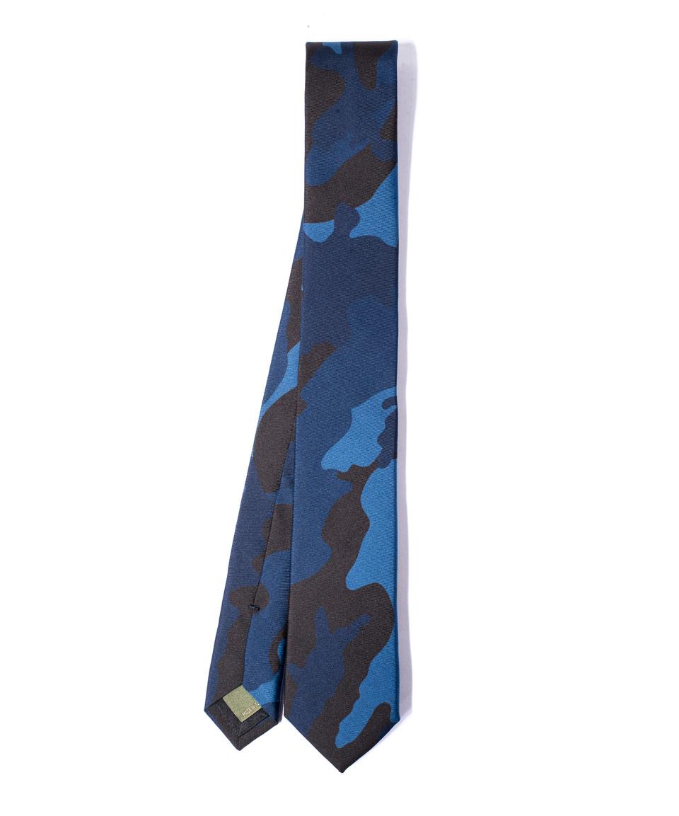 6cm Camouflage-print Silk Tie Valentino CUNtOYS6nz
