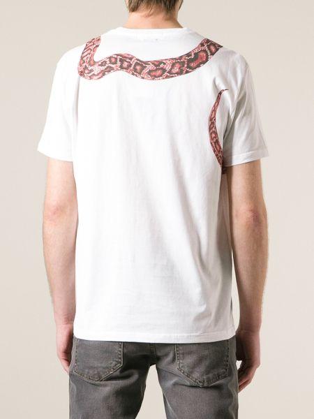 Snake Print Shirt Mens Snake Print T-shirt in