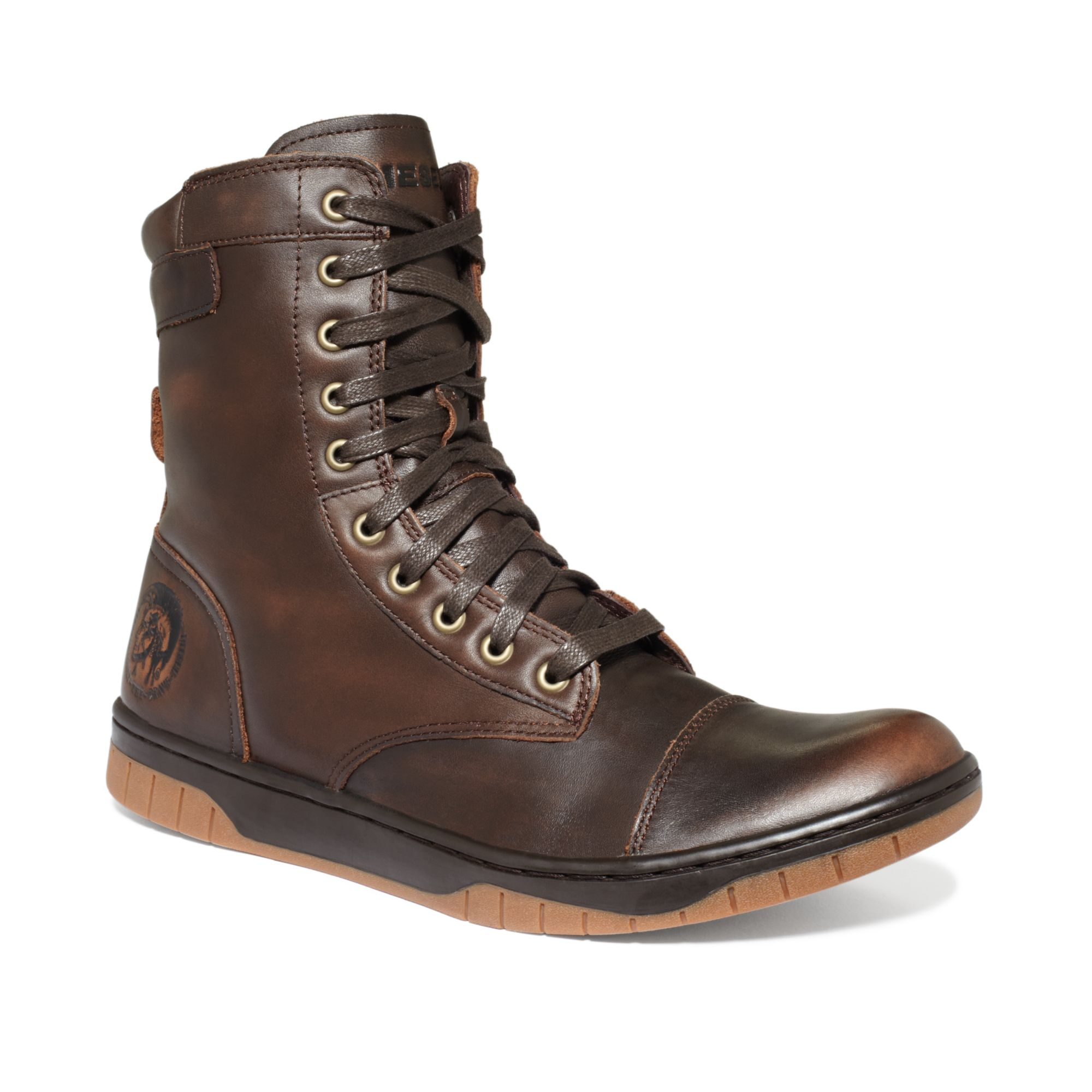 Diesel Tatradium Basket Butch Zip Boots in Brown for Men ...
