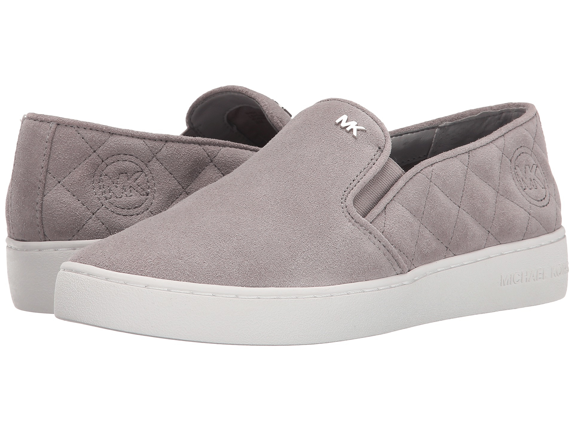 Lyst - Michael michael kors Keaton Quilted Slip-on in Gray : michael kors quilted sneakers - Adamdwight.com