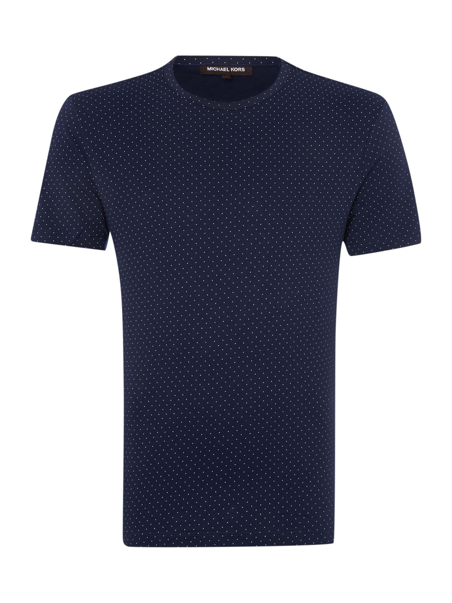 michael kors blue polka dot t shirt for men lyst. Black Bedroom Furniture Sets. Home Design Ideas