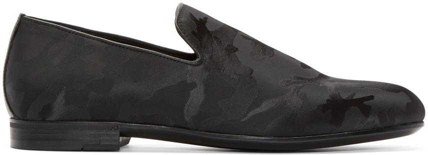 a7d51ab635ec Lyst - Jimmy Choo Black Camouflage Sloane Loafers in Black for Men