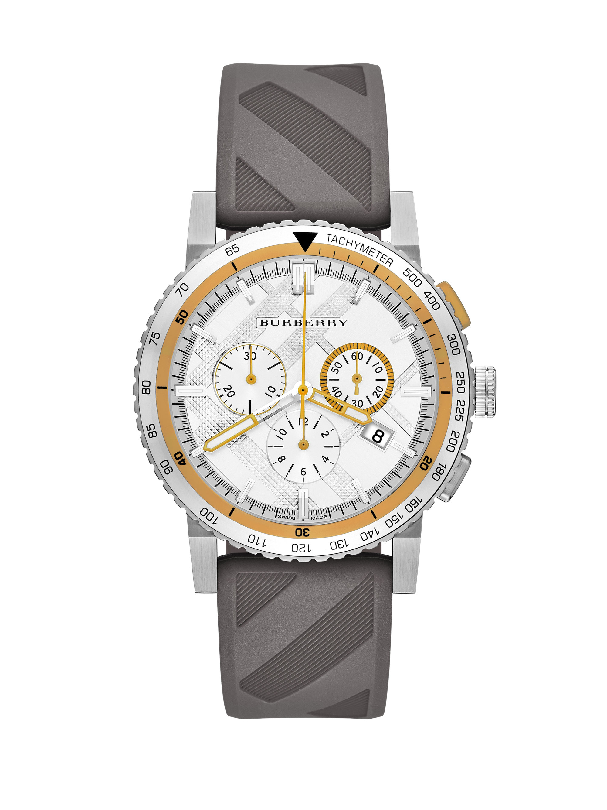 burberry the new city sport chronograph in gray for