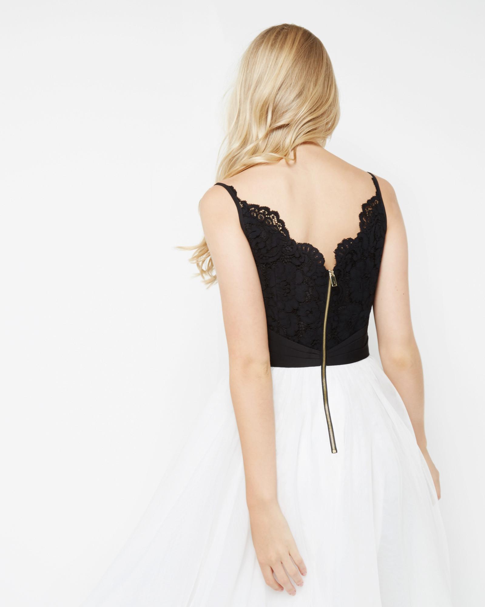Ted Baker Lace Bodice Tutu Dress In Black Lyst