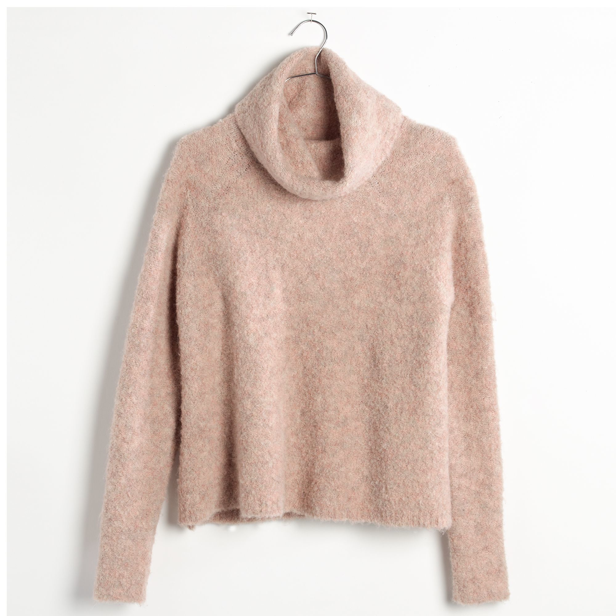9a4c1d4f787 Lyst - Madewell Roundtrip Turtleneck Sweater in Pink