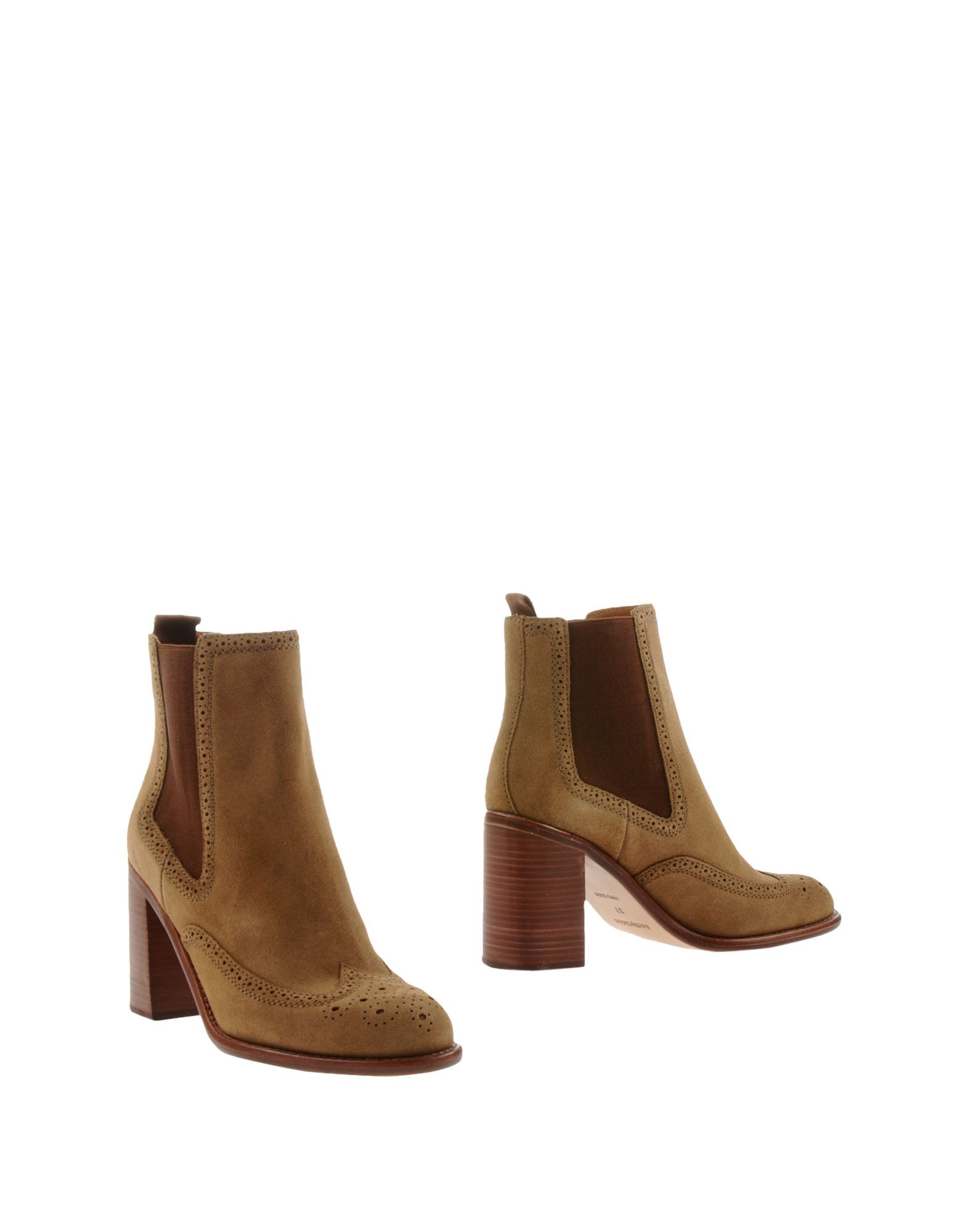 see by chlo ankle boots in khaki lyst. Black Bedroom Furniture Sets. Home Design Ideas