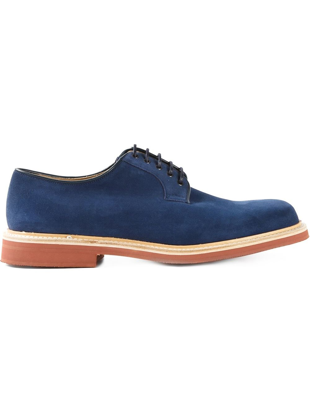 church s fulbeck lace up shoes in blue for lyst