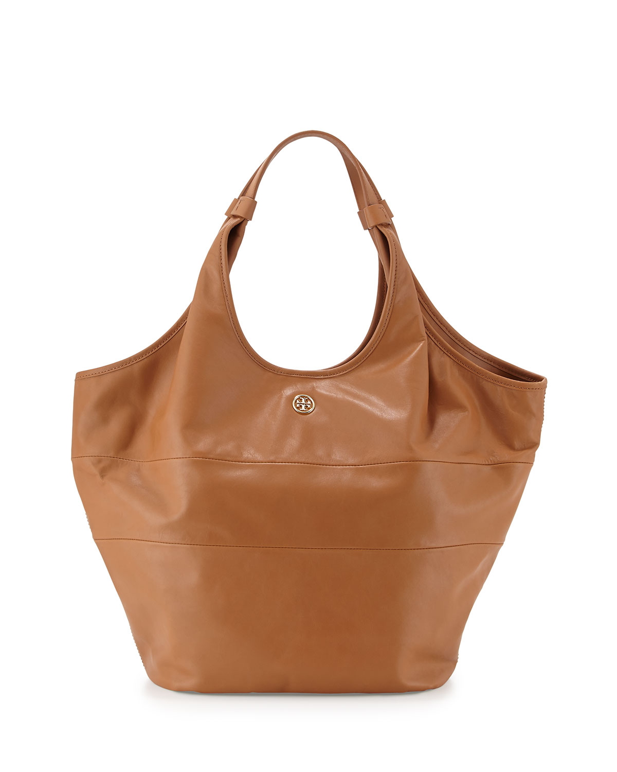 Tory burch Slouchy Leather Hobo Bag in Brown | Lyst