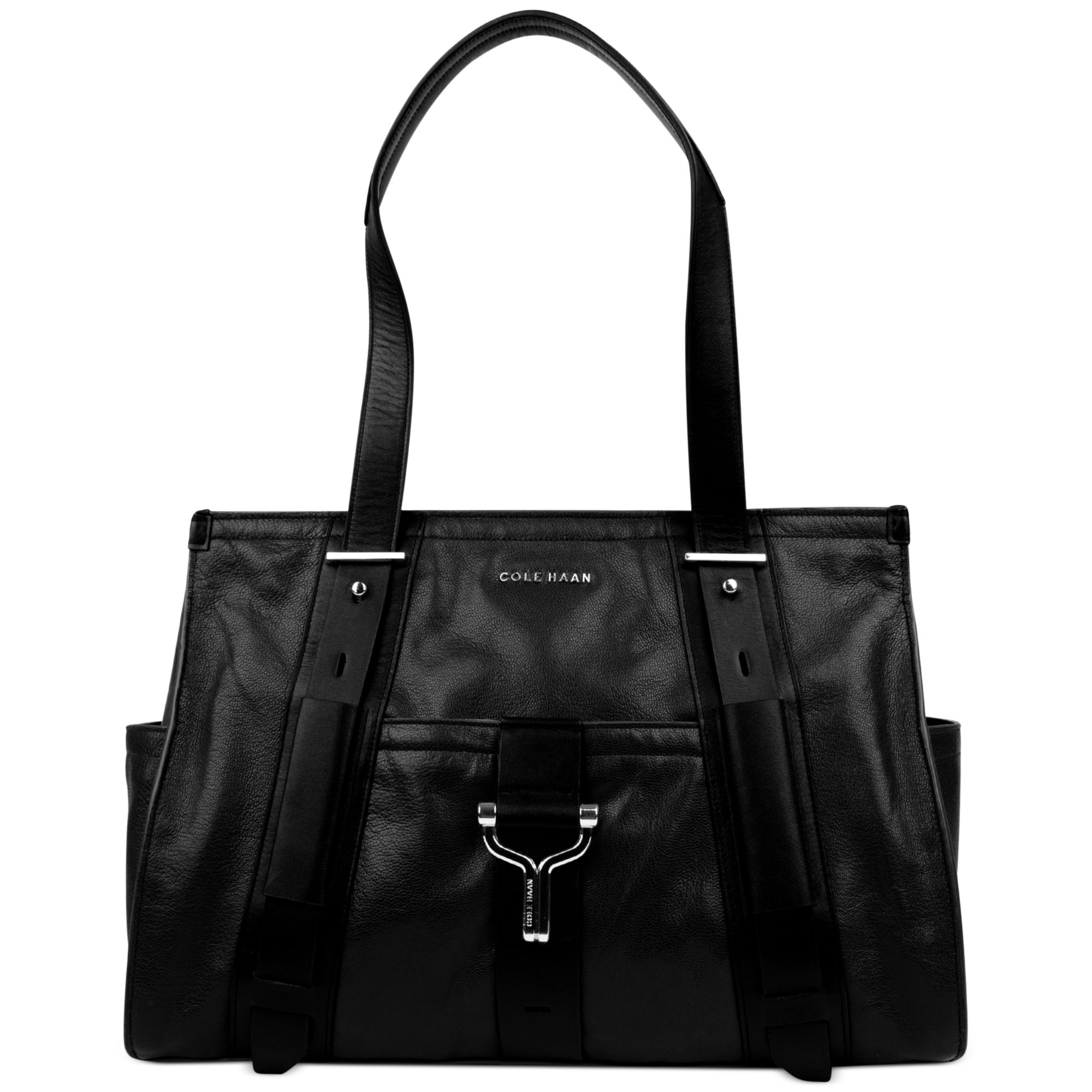 43160e6edc0a Lyst - Cole Haan Chesney Satchel in Black