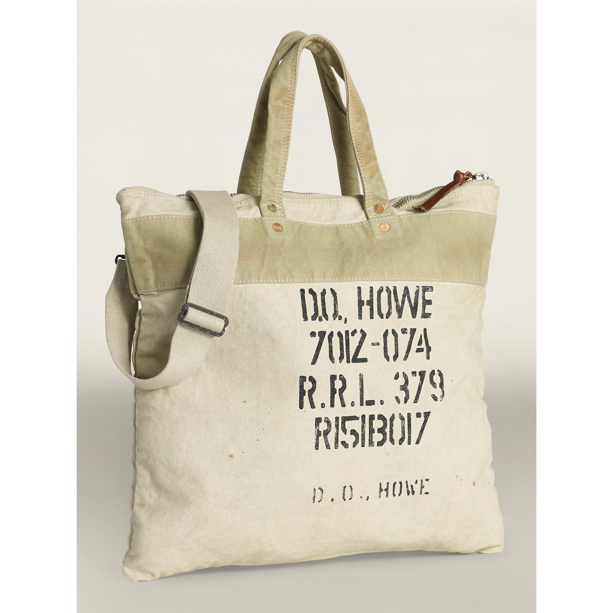 Lyst - RRL Canvas Tote Bag in Gray for Men f67d302d56403
