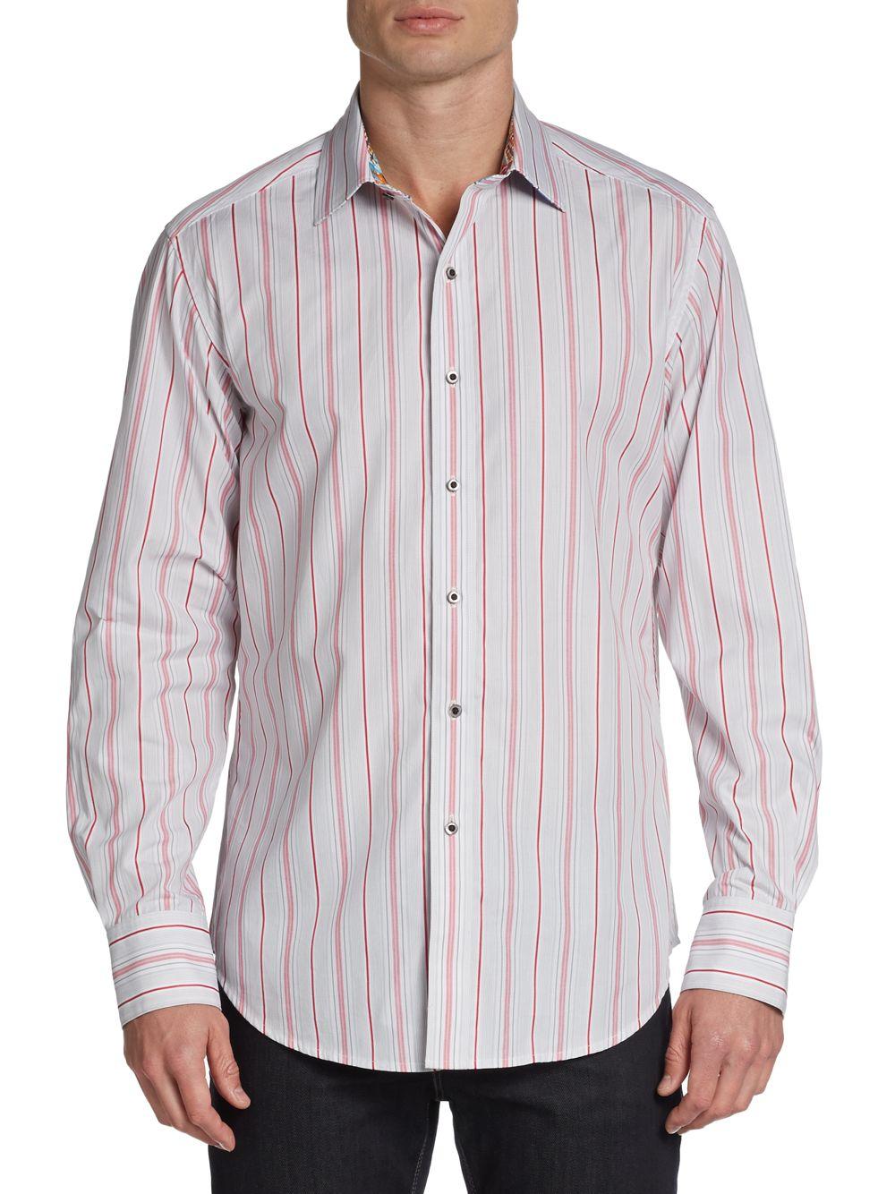Robert graham classic fit striped cotton sport shirt in for Robert graham sport shirt