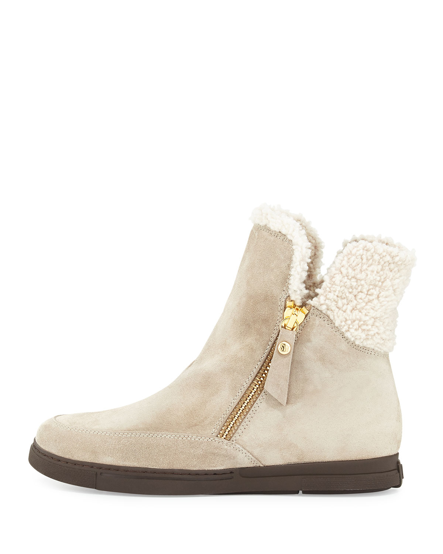a51734651f12 Lyst - Stuart Weitzman Furgie Faux-fur Zip Boot in Natural