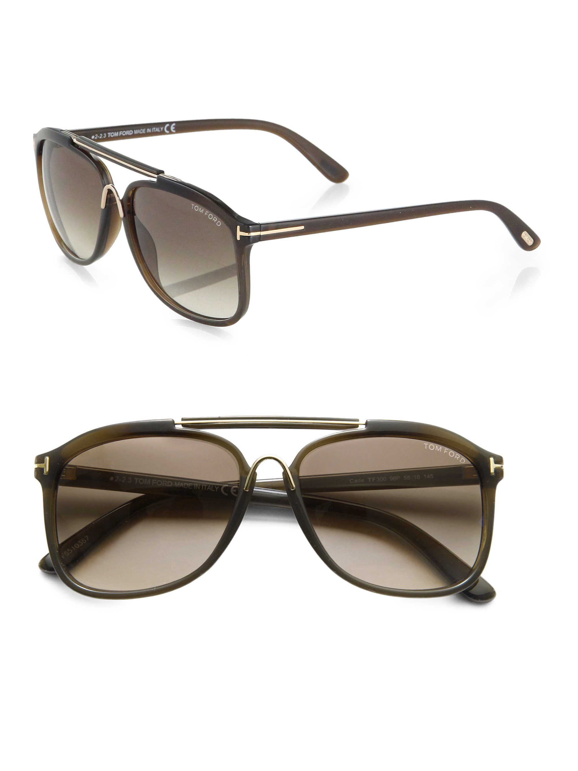Lyst Tom Ford Cade Sunglasses In Green For Men