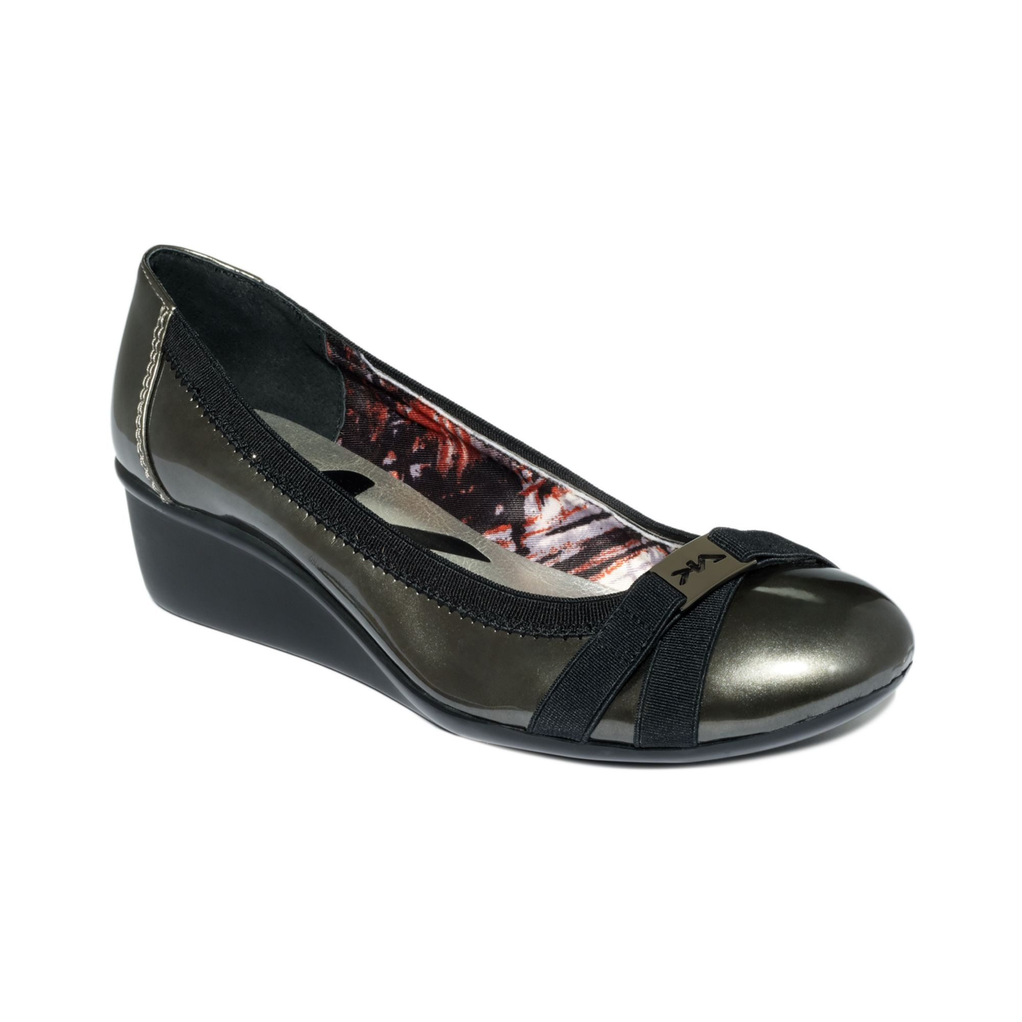 ae817c3e2f70 Lyst - Anne Klein Sport Definitely Wedge Pumps in Metallic