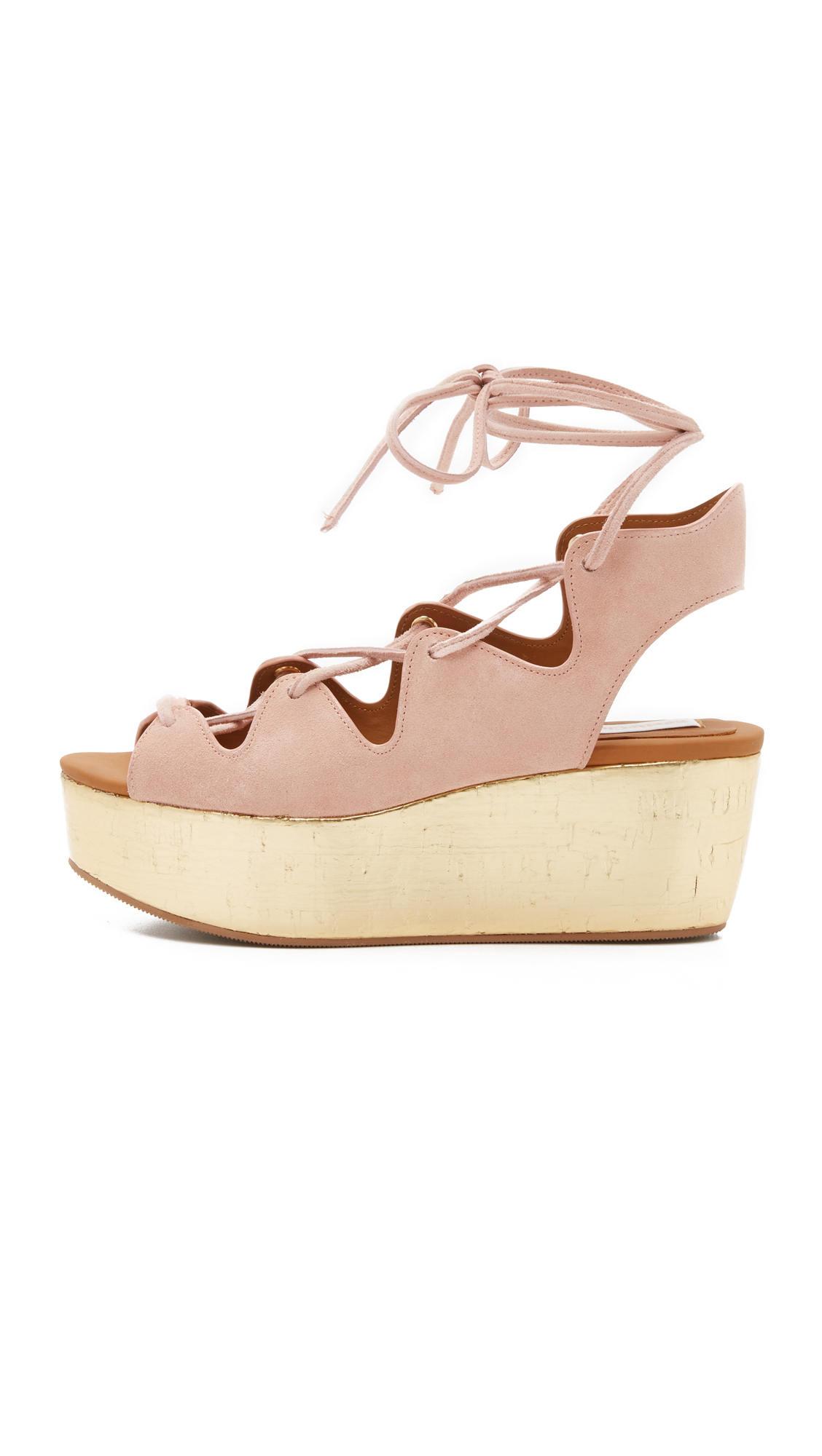 c344025e86d Lyst - See By Chloé Liana Platform Lace Up Sandals in Natural