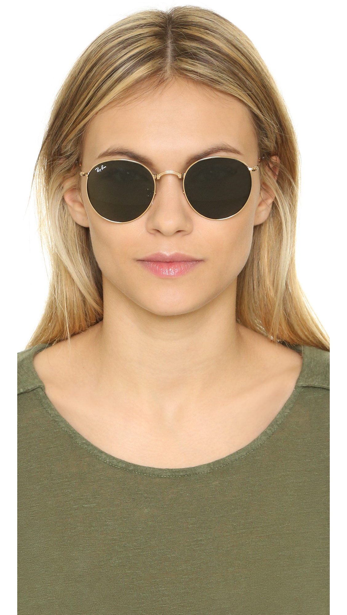 Lyst Ray Ban Icons Round Sunglasses In Green