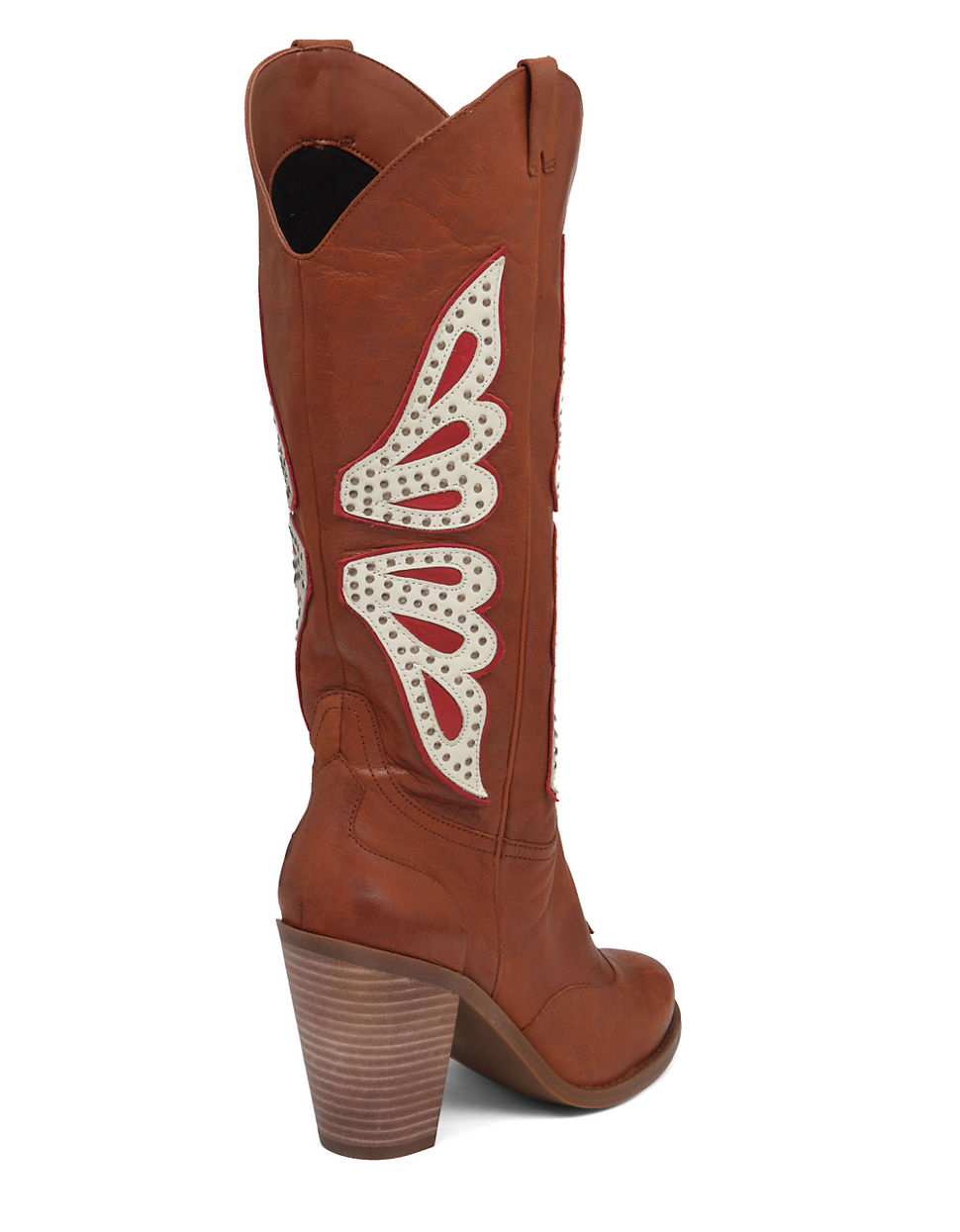a0bb737b7b1 Jessica Simpson Caralee Leather Cowgirl Boots in Brown - Lyst