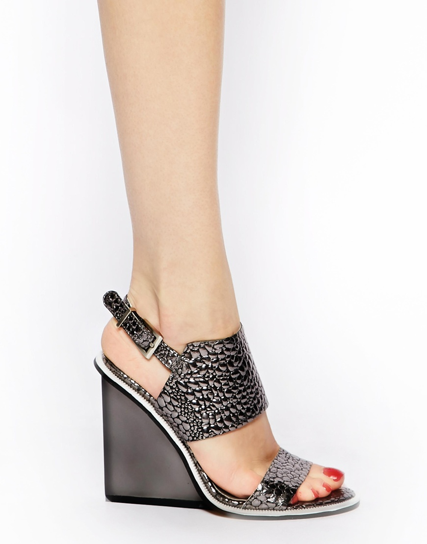 f2bbf74dc796 Lyst senso wilma ii pewter wedge heeled sandals in metallic jpg 870x1110 Pewter  wedges