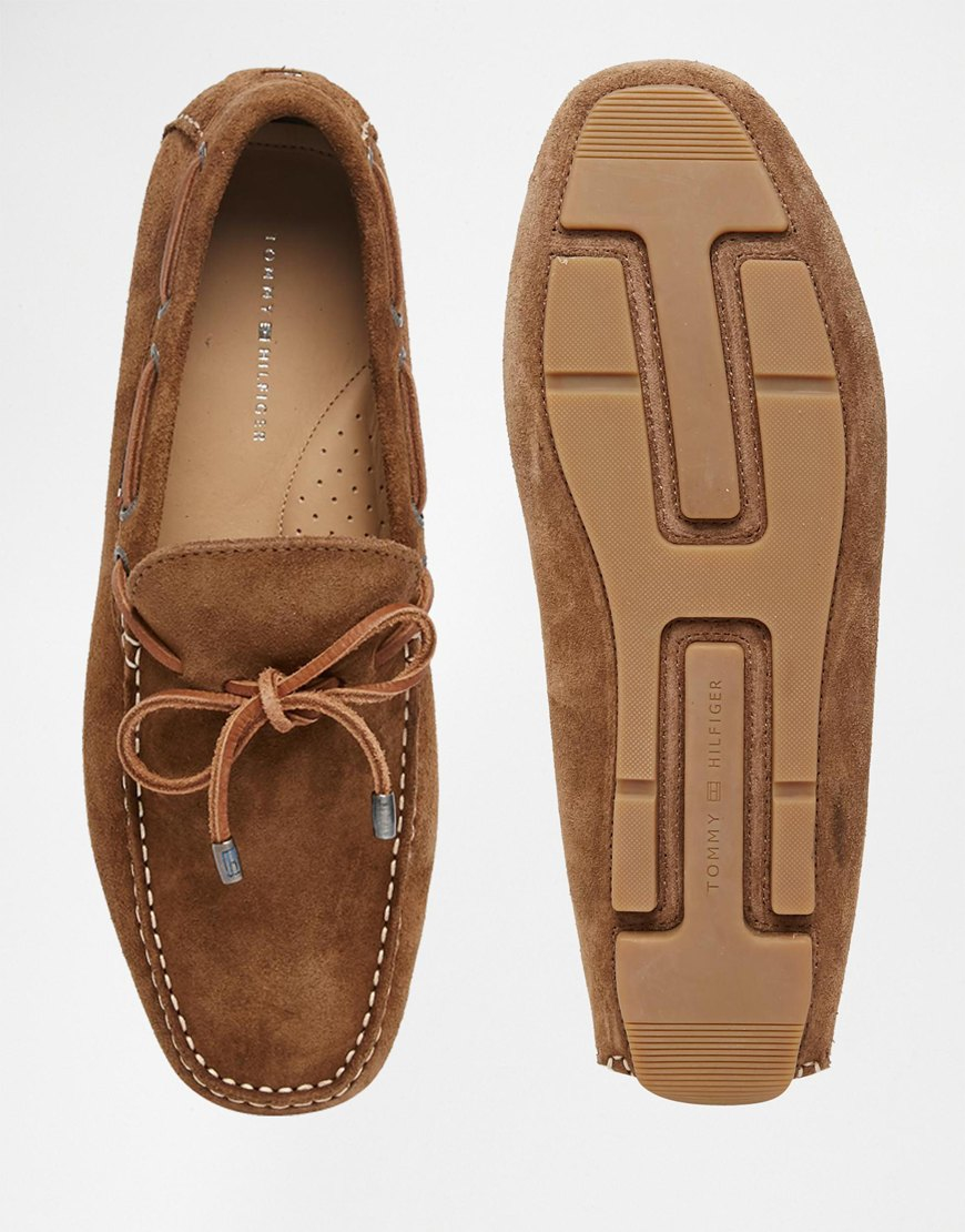 Tommy Hilfiger Brown Suede Monte Loafers for men