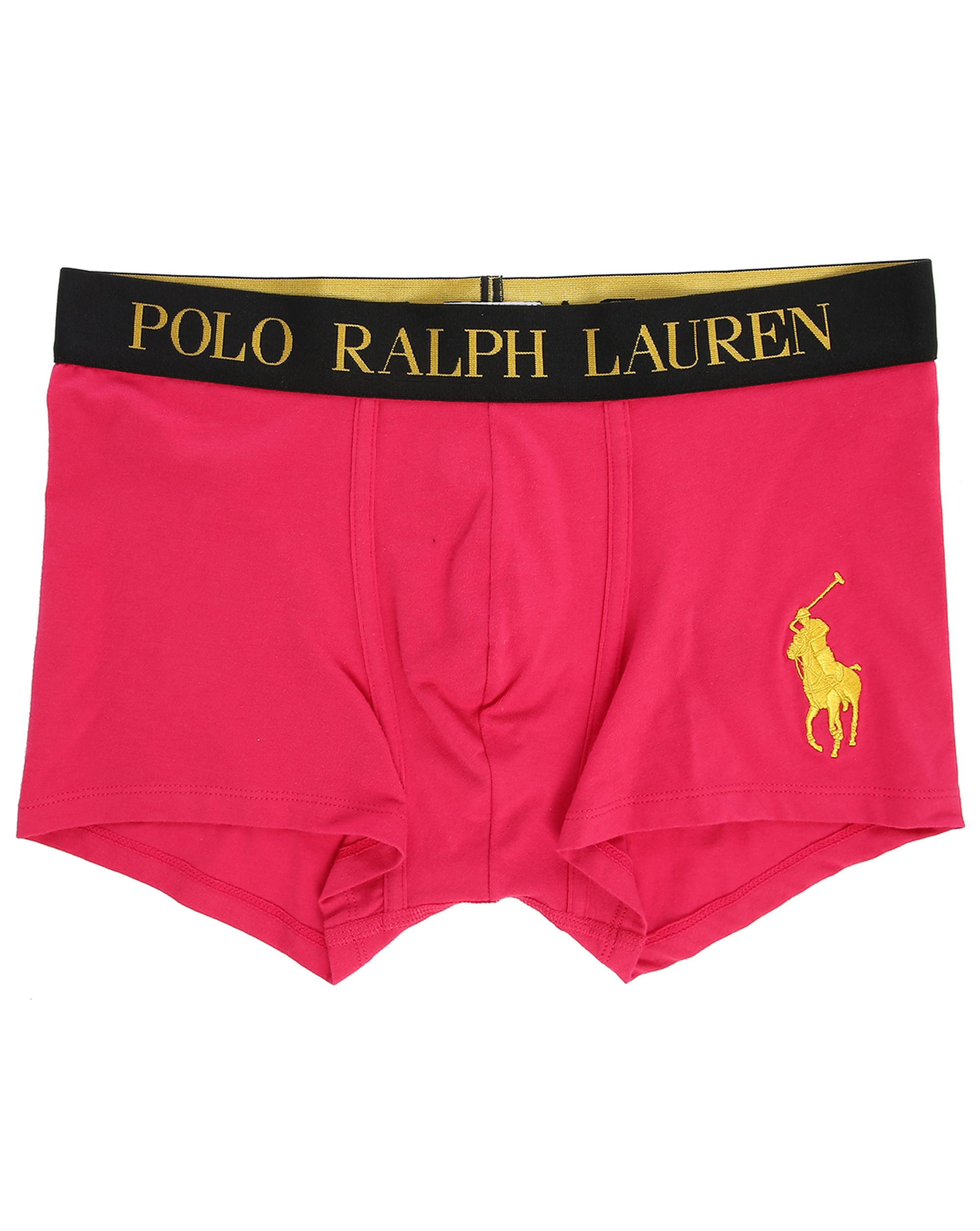 Polo ralph lauren Gold Big Pony Boxer Shorts With Pink Logo in Pink for Men |