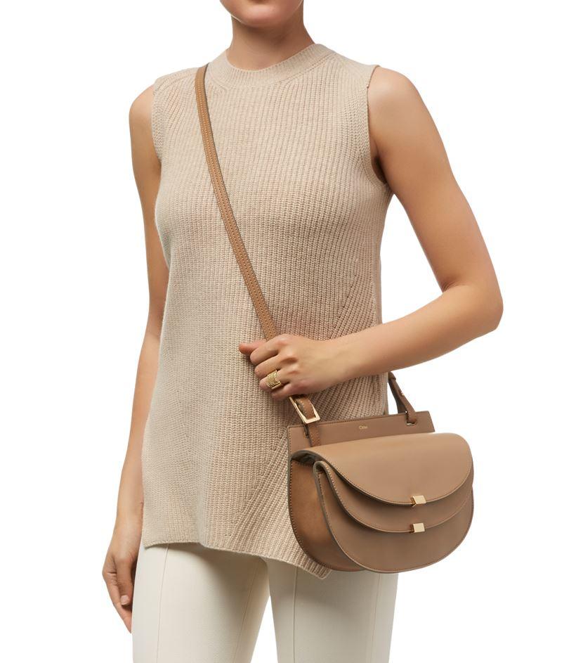 Chloé Small Georgia Shoulder Bag in Natural - Lyst 32e15333c7