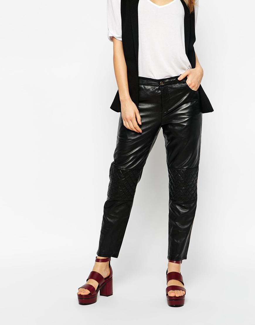 08f58556c7 Ganni Rocky Leather Pants in Black - Lyst