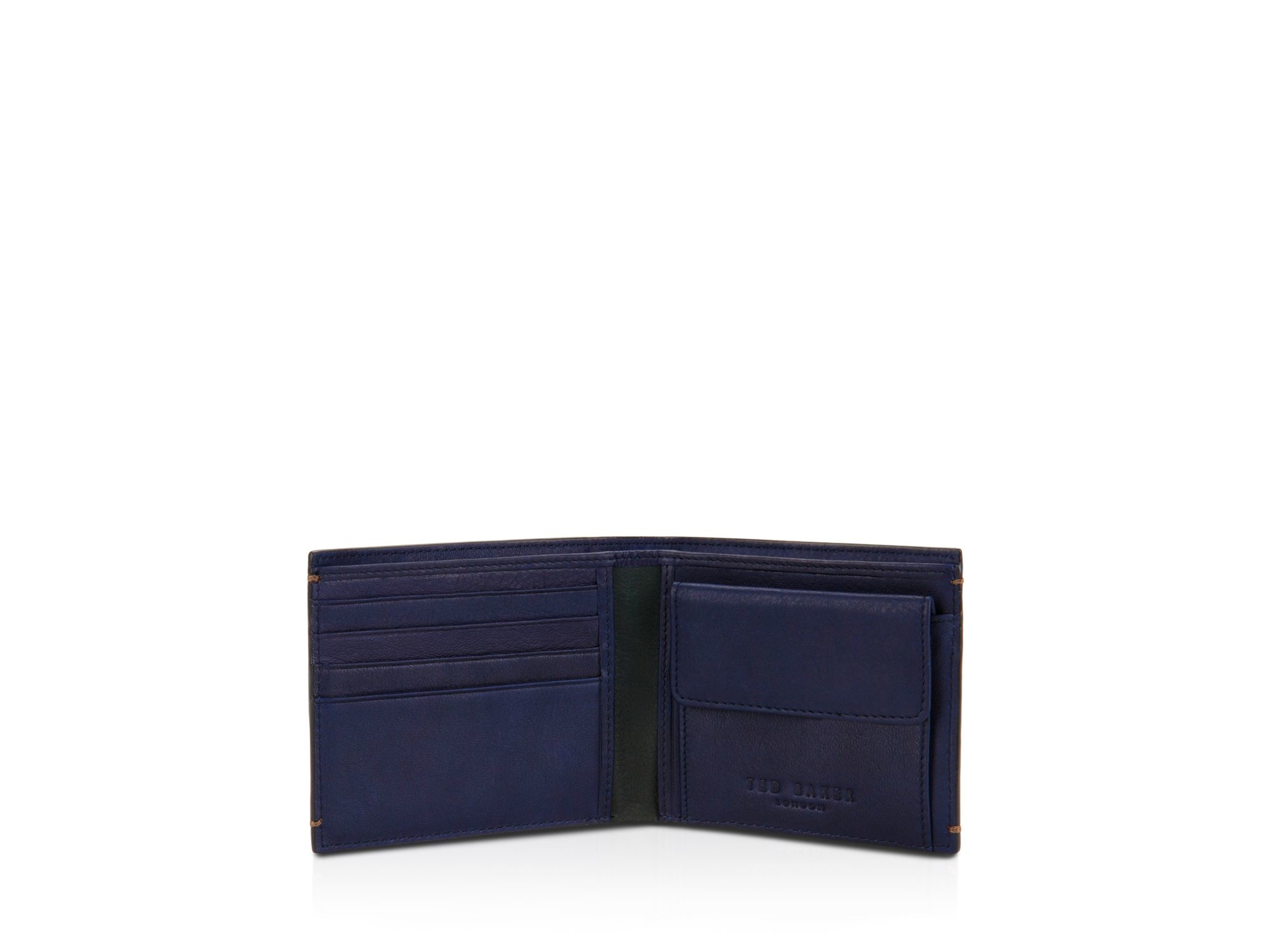 cac5cb608c Ted Baker Camlock Color Block Leather Bi-fold Wallet in Purple for ...