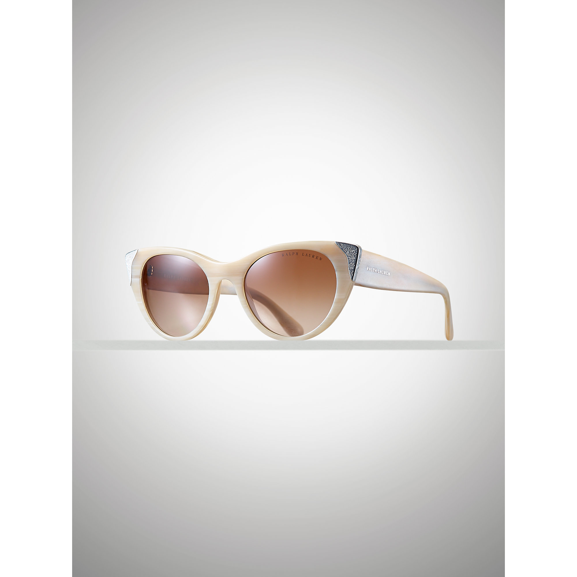 0a69a5b945 Lyst - Ralph Lauren Western Cat Eye Sunglasses in Natural
