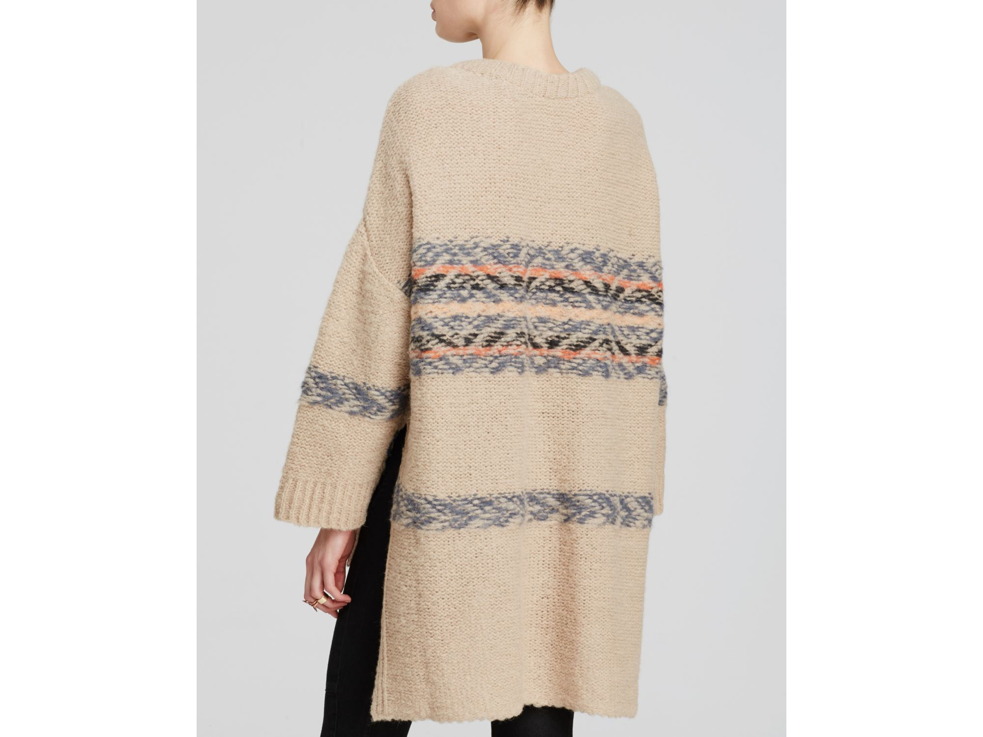Free people Fair Isle Alpaca Tunic Sweater | Lyst
