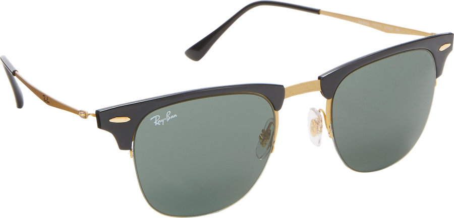Ray-ban Tech Light Clubmaster Sunglasses in Black for Men | Lyst