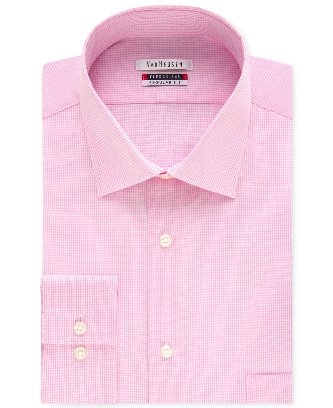 d5d269c057 Lyst - Van Heusen Men s Tek Fit Flex Collar Bright Pink Gingham ...