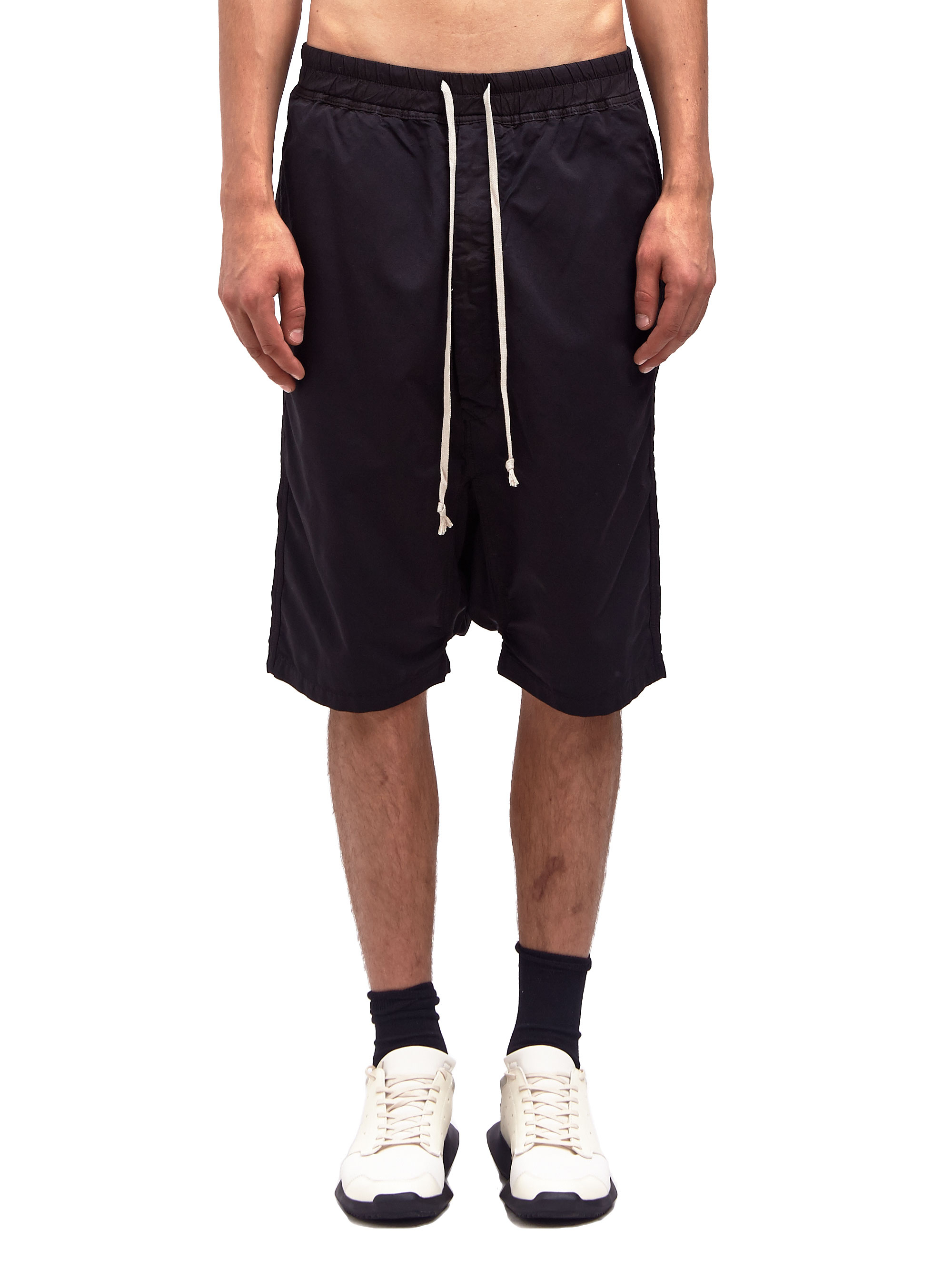 Drkshdw by rick owens Mens Drawstring Shorts in Black for Men | Lyst