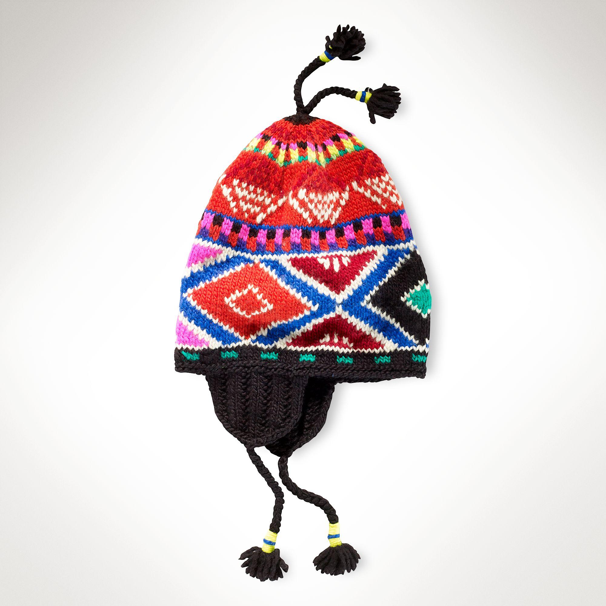 Polo Ralph Lauren Earflap Ski Hat in Black for Men - Lyst 072fc4e886e1
