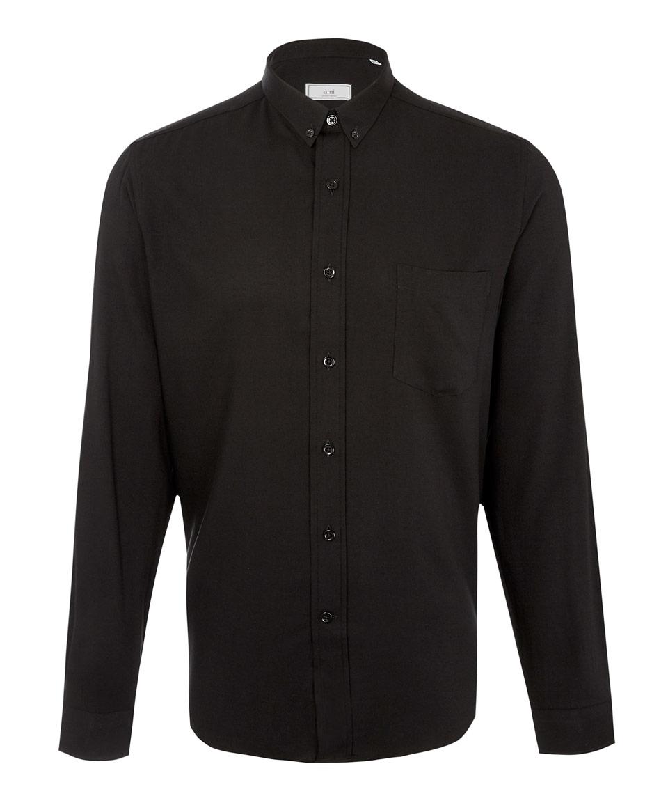 Lyst Ami Black Button Down Shirt In Black For Men