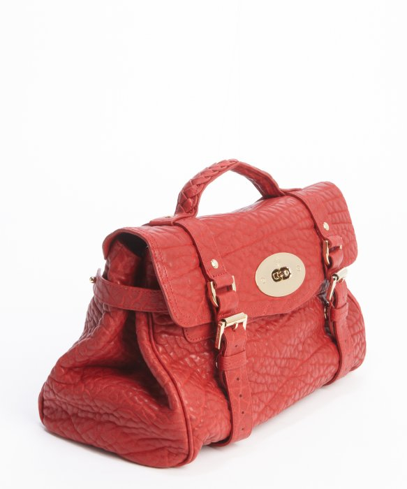 0ef9299f21b ... spain lyst mulberry poppy red pebbled leather alexa satchel bag in red  d92a8 f46b5