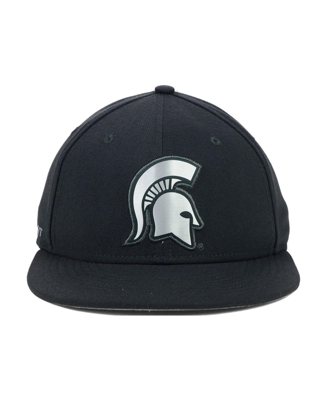 sale retailer 5e289 1efa3 ... shopping lyst nike michigan state spartans true platinum swooshflex cap  in 1f92b b3e42