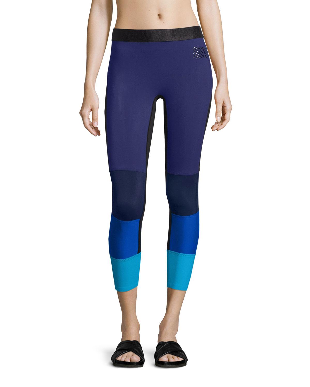monreal london spectrum colorblock sport leggings in blue lyst. Black Bedroom Furniture Sets. Home Design Ideas