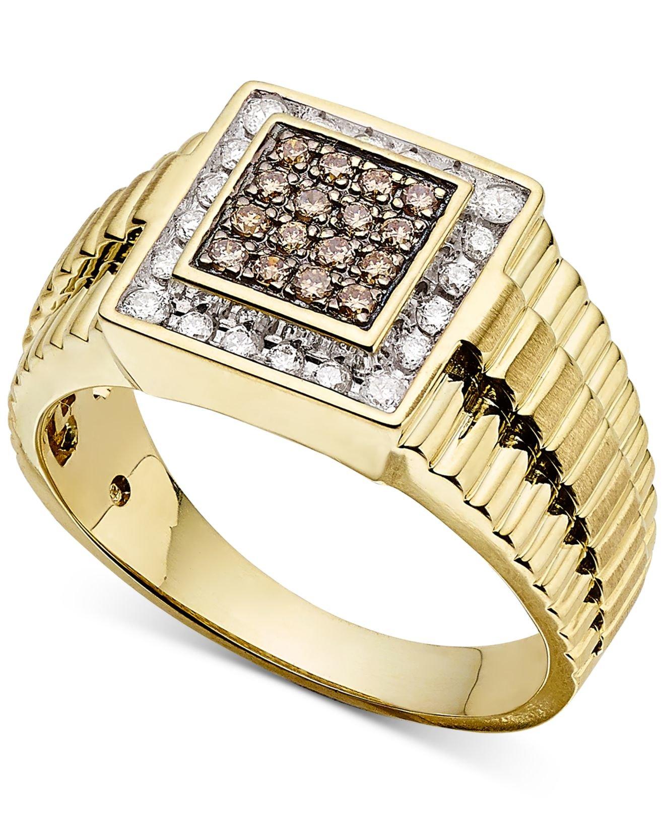 macy s s ring 1 2 ct t w in 10k gold in