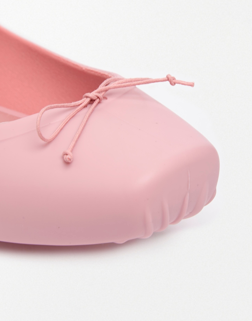 Melissa Ballet Baby Pink Flat Shoes in Pink | Lyst