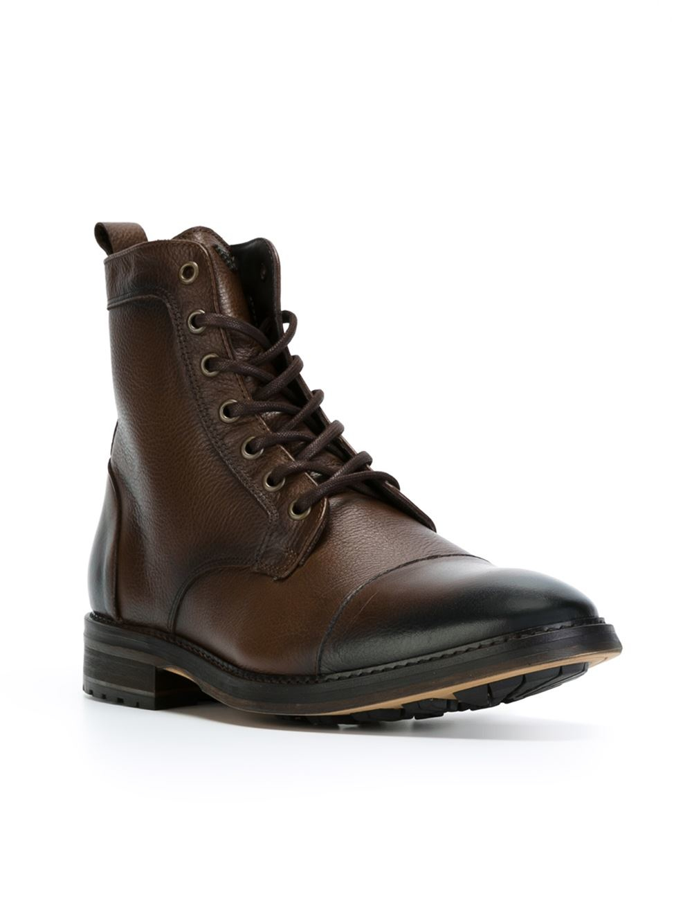 Lyst Armani Jeans Lace Up Boots In Brown For Men