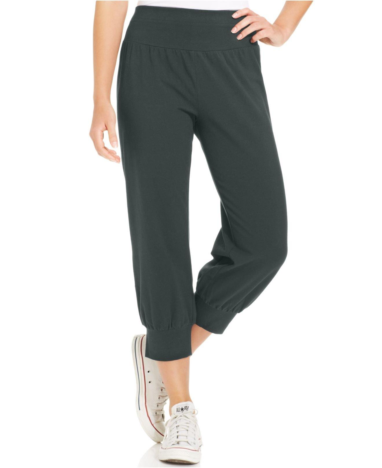 Style & co. Petite Knit Jogger Capri Pants in Gray | Lyst